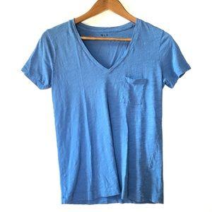 Madewell Tops Nwt Black Drapey Henley Tee Shirt Poshmark